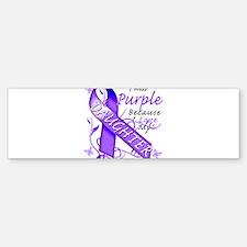 I Wear Purple I Love My Daugh Bumper Bumper Sticker
