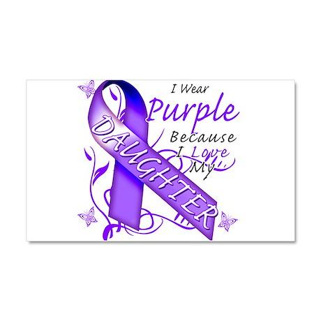 I Wear Purple I Love My Daugh Car Magnet 20 x 12