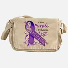 I Wear Purple I Love My Daugh Messenger Bag