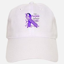 I Wear Purple I Love My Daugh Baseball Baseball Cap