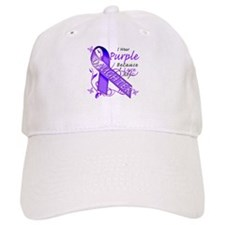 I Wear Purple I Love My Daugh Baseball Cap