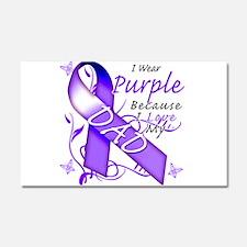 I Wear Purple I Love My Dad Car Magnet 20 x 12