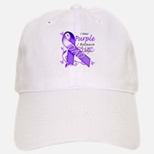 I Wear Purple I Love My Dad Baseball Baseball Cap