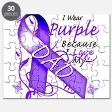 I Wear Purple I Love My Dad Puzzle
