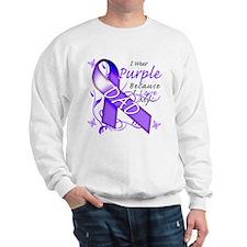 I Wear Purple I Love My Dad Jumper