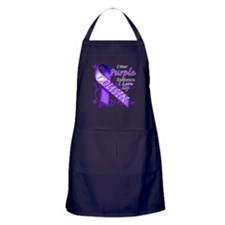 I Wear Purple I Love My Cousi Apron (dark)