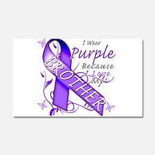 I Wear Purple I Love My Broth Car Magnet 20 x 12