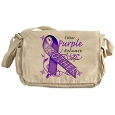 I Wear Purple I Love My Broth Messenger Bag