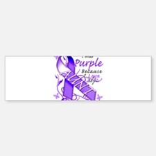 I Wear Purple I Love My Aunt Bumper Bumper Sticker