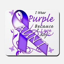 I Wear Purple I Love My Aunt Mousepad