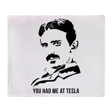 You had me at Tesla Throw Blanket