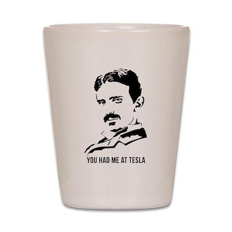 You had me at Tesla Shot Glass
