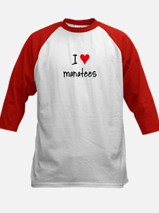 I LOVE Manatees Kids Baseball Jersey