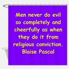 blaise pascal Shower Curtain
