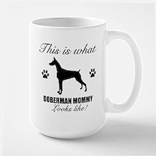Doberman Mommy Large Mug