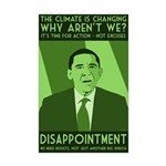 Small Obama Climate Disappointment Poster
