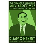 Large Climate Protest Green Obama Poster