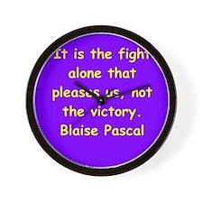 blaise pascal Wall Clock