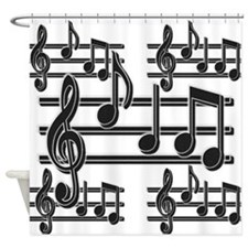Musical Notes II Shower Curtain