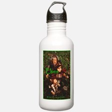 Elves: bright green text Water Bottle