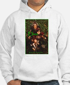 Elves: bright green text Hoodie