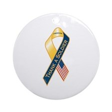 Thank A Soldier Ornament (Round)