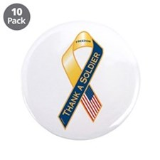 "Thank A Soldier 3.5"" Button (10 pack)"
