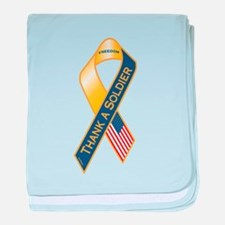 Thank A Soldier baby blanket