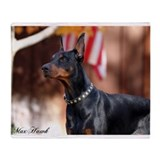 Doberman pinscher Fleece Blankets