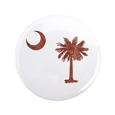 "Palmetto & Cresent Moon 3.5"" Button"