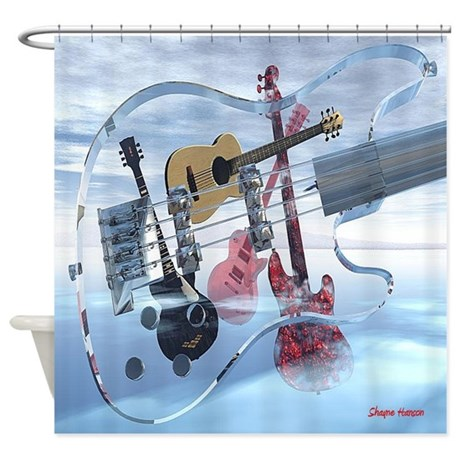 Big Glass Bass Shower Curtain