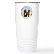OceanSunrise-2PWD-brn+blk Travel Mug