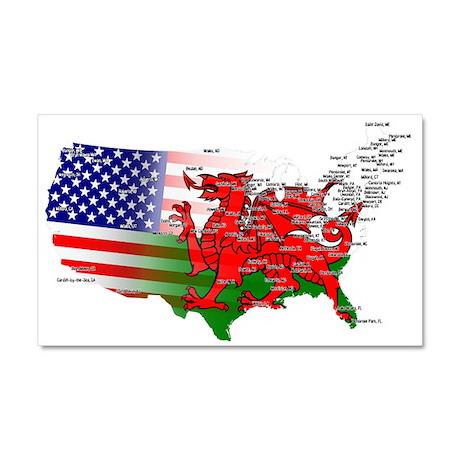 Welsh Placenames USA Car Magnet 20 x 12