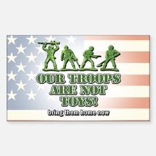 Our Troops... Sticker (Rectangle)