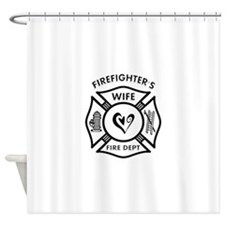 Firefighters Wife Shower Curtain