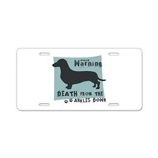 Doxie Warning Aluminum License Plate