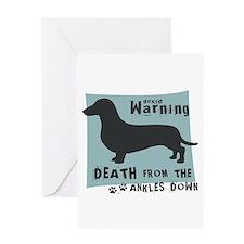 Doxie Warning Greeting Card