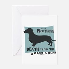 Doxie Warning Greeting Card