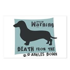 Doxie Warning Postcards (Package of 8)