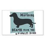 Doxie Warning Sticker (Rectangle 10 pk)