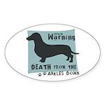 Doxie Warning Sticker (Oval 10 pk)