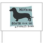 Doxie Warning Yard Sign