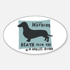 Doxie Warning Sticker (Oval)