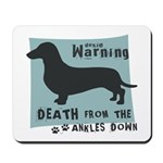 Doxie Warning Mousepad