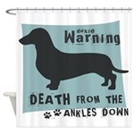 Doxie Warning Shower Curtain