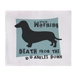 Doxie Warning Throw Blanket