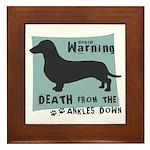 Doxie Warning Framed Tile