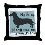 Doxie Warning Throw Pillow