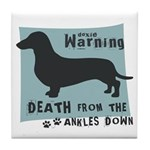 Doxie Warning Tile Coaster