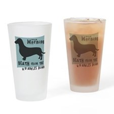 Doxie Warning Drinking Glass